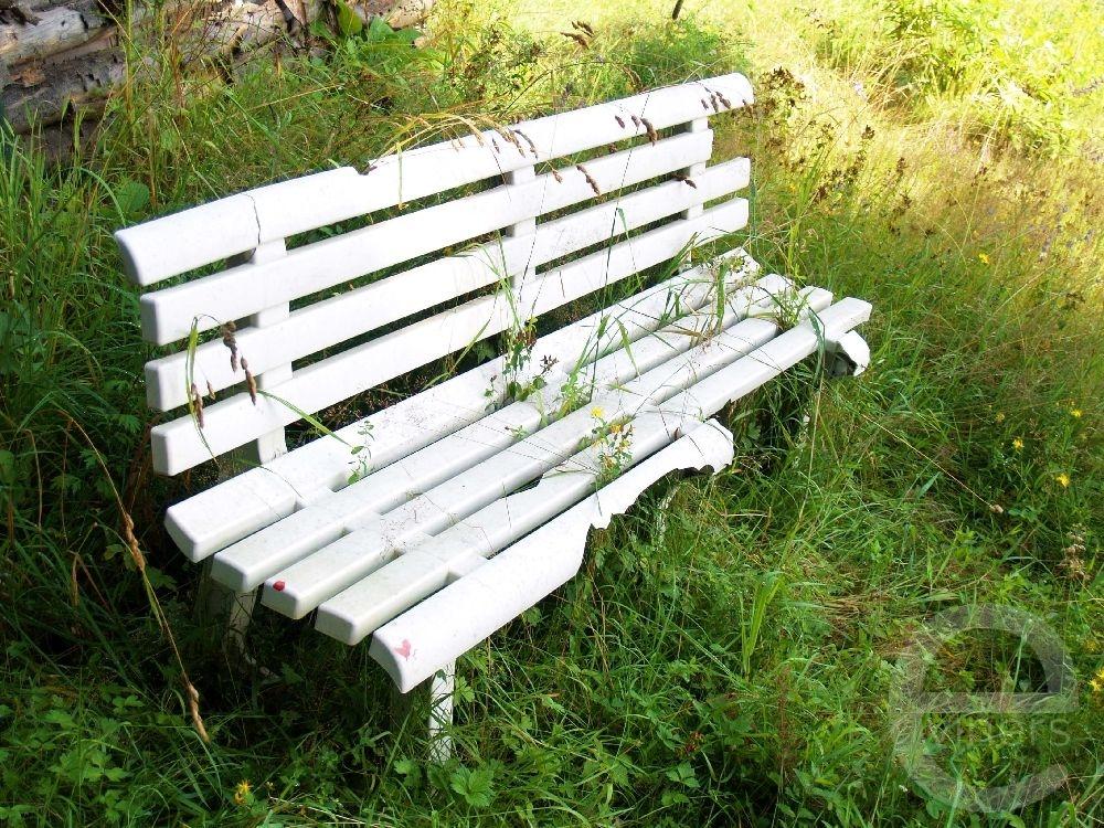 Broken Bench in a Meadow