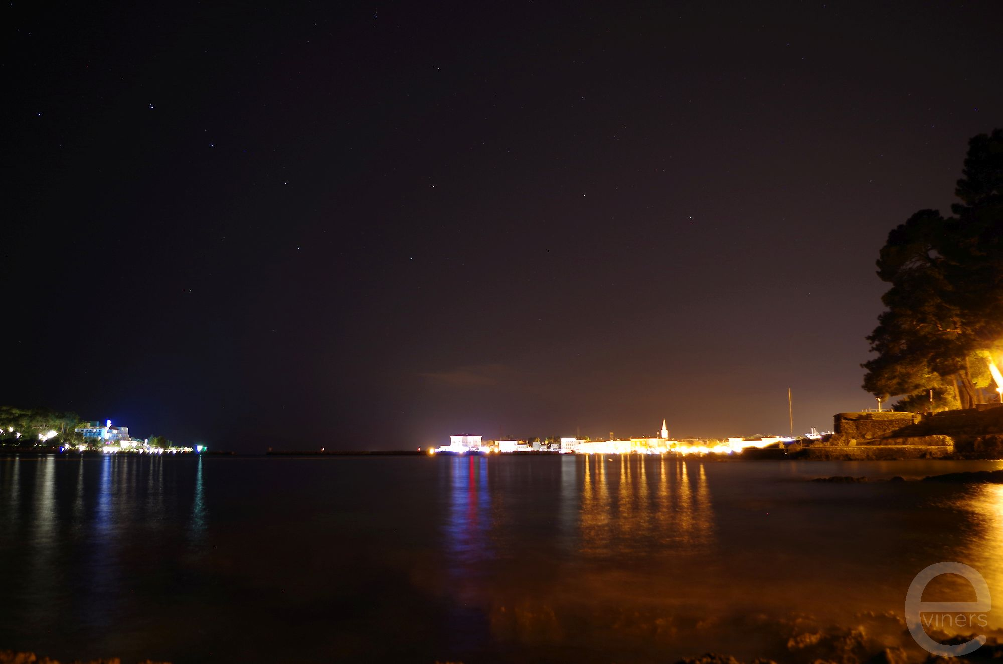 Lights Shimmering on the Sea